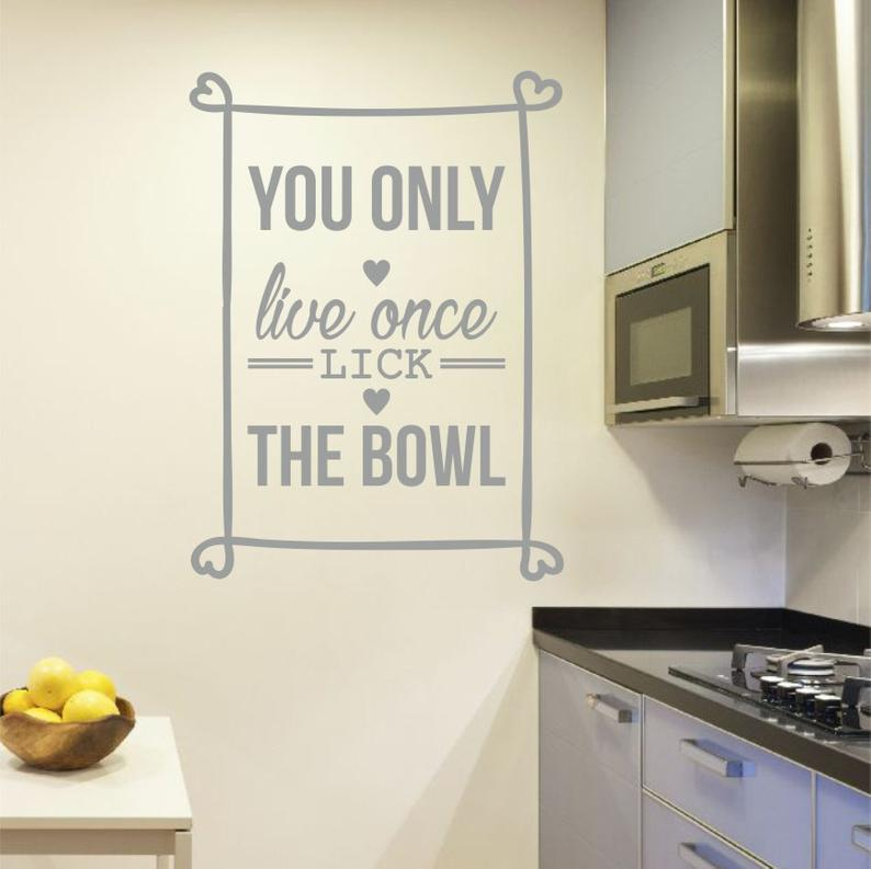 You Only Live Wall Stickers - Sabas