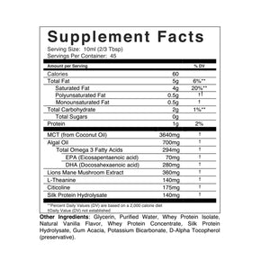 Memento Nootropic Variety Pack Supplement Facts