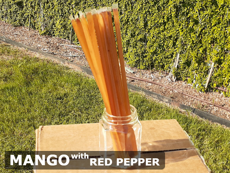 Mango Honey with Red Cayenne Pepper Honey Sticks - All-Natural & Unfiltered