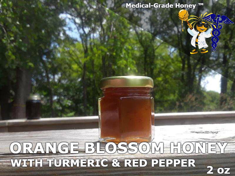 Orange Blossom Honey with Turmeric & Red Cayenne Pepper