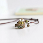 Little Bee & Me Stone Necklace w/ Charm