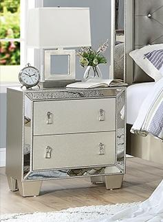 Nightstand F4981 Silver Mirror