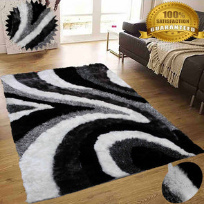 Shimmer Shaggy Area Rug (Gray)