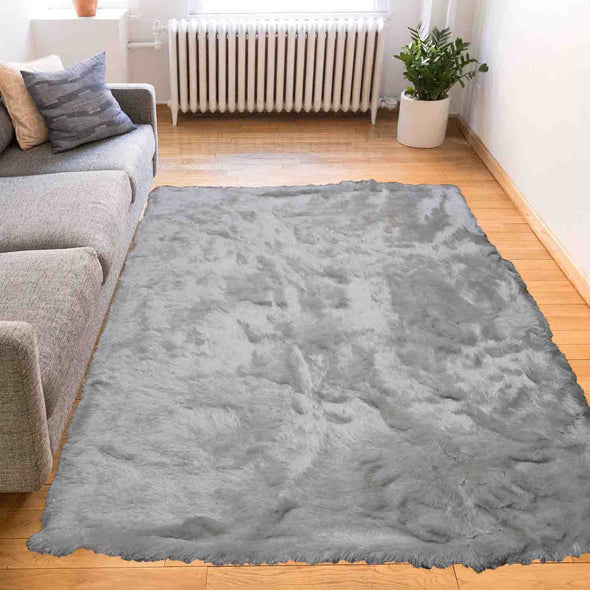 Fluffy furry soft Rug (Harmony pure white)