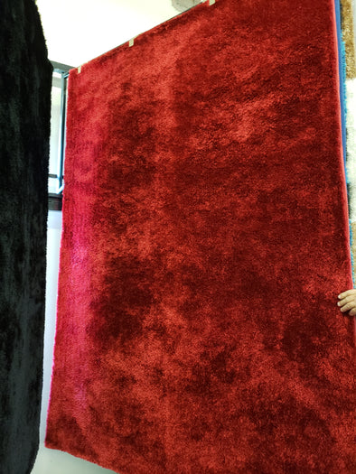 Shaggy Area Rug Red