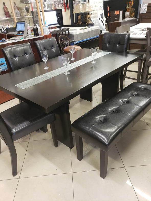 6 Pcs Dining Set RD-2300  Black