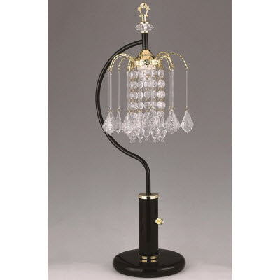 4897BK RAIN DROP TABLE LAMP BLACK