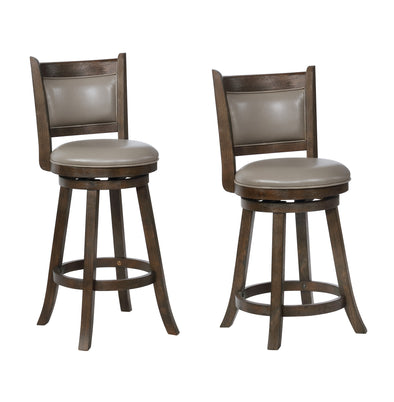 "2798gy CECIL SWIVEL BAR STOOL 29"", 2 Pcs"