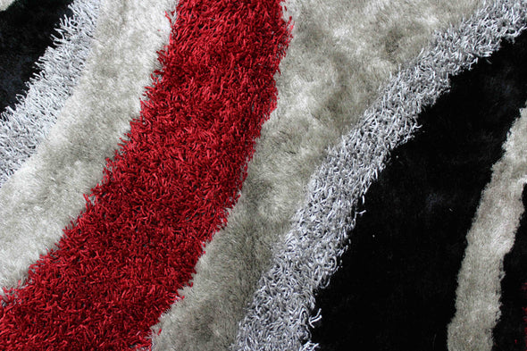 Signature Shaggy Area Rug (Red) BLD-289
