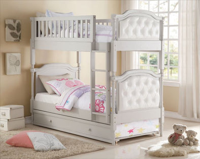 37690 PEARLIE TWIN TWIN BUNK BED GRAY