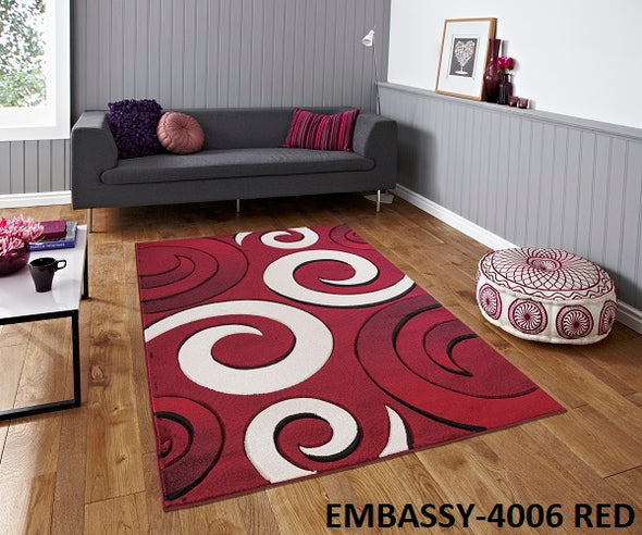 Embassy Area Rug Red