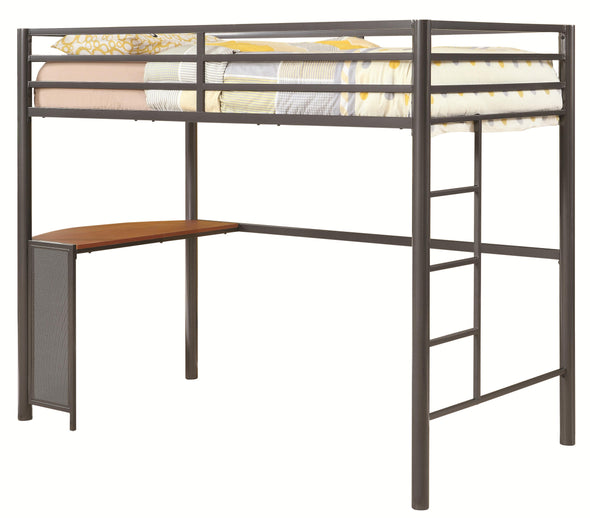 460229 Bunks Twin Metal Workstation Loft Bed By Coaster