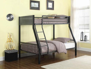 460391 Twin / Full Metal Bunk Bed By Coaster