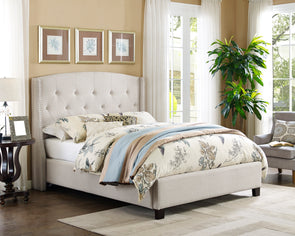 5111IV Eva Queen Bed Ivory