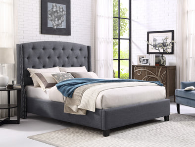 5111 Eva Queen Bed Grey