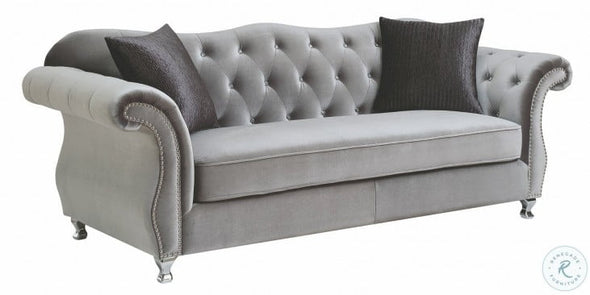 Frostine 551161 Living Room Set in Grey by Coaster