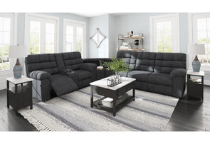 55403 Wilhurst-- 3-Pieces Reclining Sectional with Wedge By Ashley