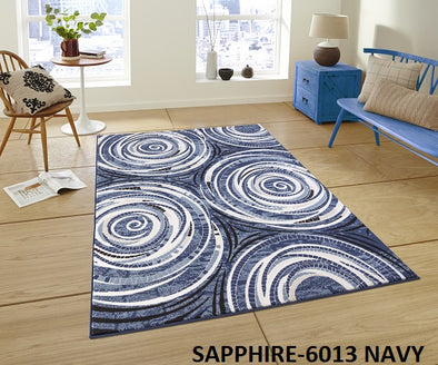 Saphire Area Rug Blue