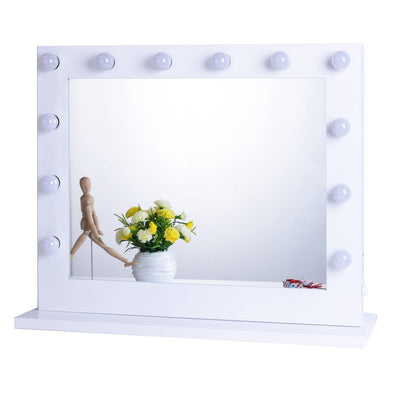 Big Hollywood Mirror with Dimmers Bulbs