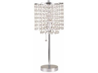 6213  CHANDELIER TABLE LAMP CHROME