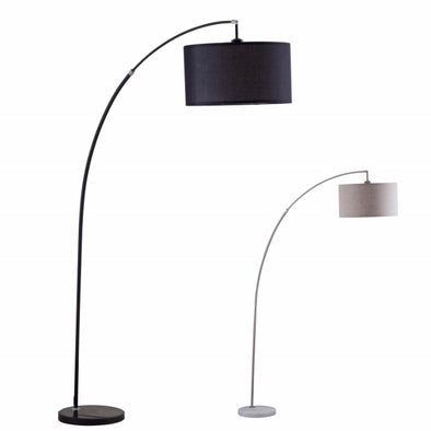 6224-CR FLOOR LAMP WITH DRUM White / Chrome