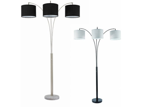 6249 3 ARM FLOOR LAMP White