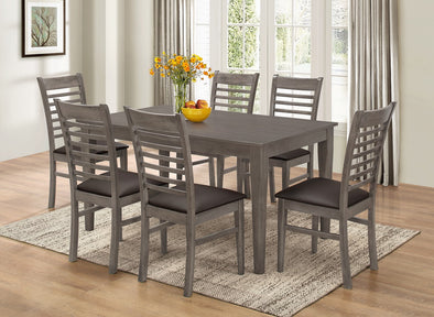 7812 7 Pcs Dining Set Gray