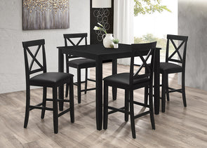 7820 5 Pcs Dinig Set Black