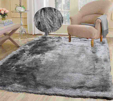 Fluffy furry soft Rug (Harmony Silver)