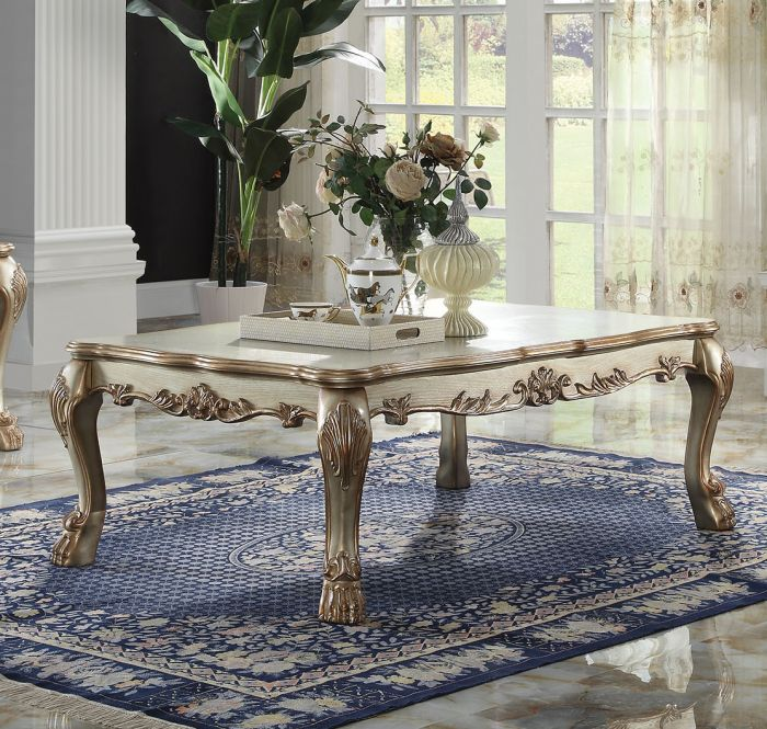 Awesome Dresden Gold Patina Coffe Table 83160 Machost Co Dining Chair Design Ideas Machostcouk