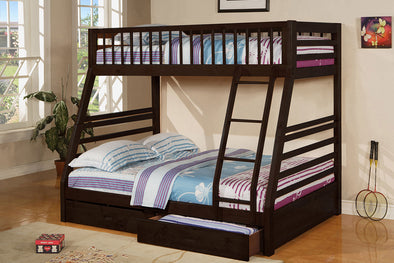 Twin / Full Bunk Bed with Trundle 835-ESP