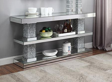 90462 Noralie Console Table, Faux diamonds