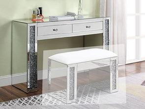 90465 Noralie Vanity Desk Mirrored