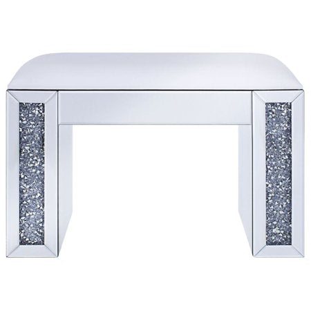 90467 Noralie Vanity Stool Mirrored