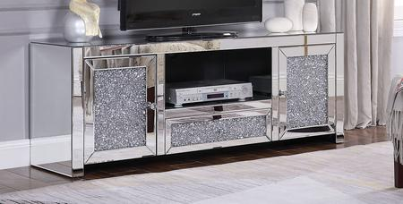 91450 Noralie Tv Stand, Faux Diamond inlay