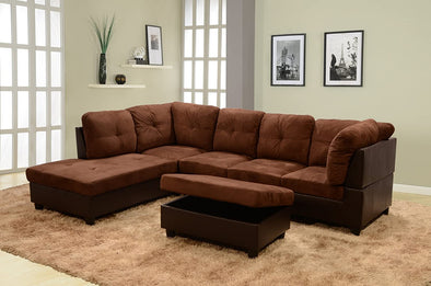 Sectional 3pcs with ottoman F107A