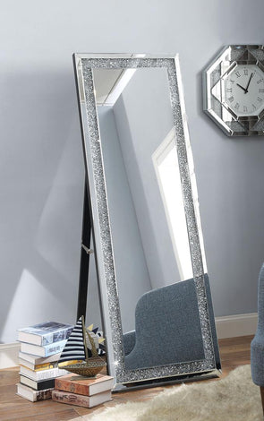 97156 Noralie Accent Mirror, Faux Diamond