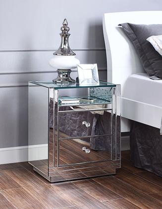 97575 Nysa End Table, Faux Crystals