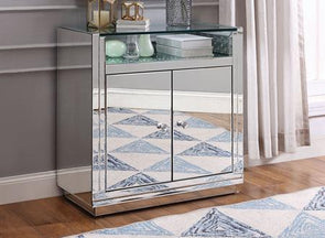 97577 Nysa Console Table, Faux Crystal