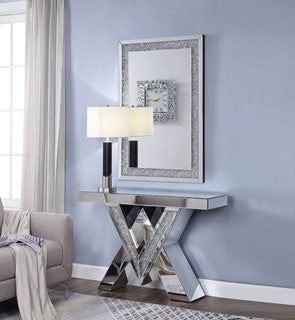 90444 Noralie Console Table, Faux diamonds