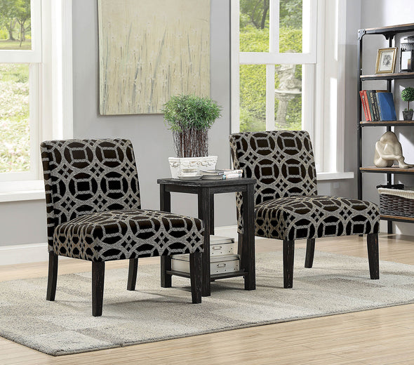 FORTUNA ACCENT TABLE & CHAIR SET     |     CM-AC6375-3PK