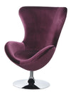 ELOISE CHAIR W/ OTTOMAN     |     CM-AC6841 Purple