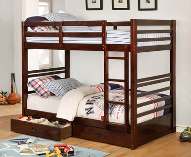 CALIFORNIA IV TWIN/TWIN BUNK BED     |     CM-BK588T-EX