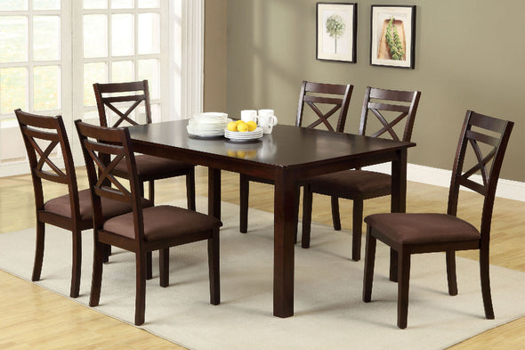 WESTON II 7 PC. DINING TABLE SET     |     CM3400T-7PK