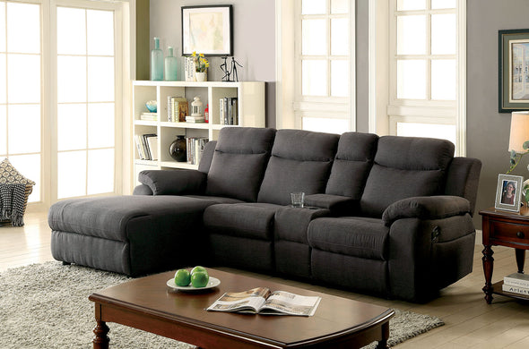 KAMRYN SECTIONAL W/ CONSOLE     |     CM6771GY