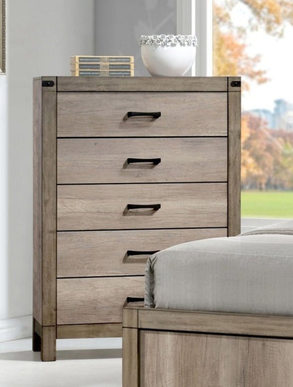 Chest B3200 Matteo Natural Finish Solid Wood