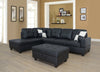Sectional 3pcs with ottoman f091