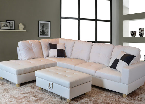Sectional 3pcs with ottoman f092