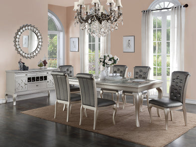 7 Pcs Dining Set f2151 Silver