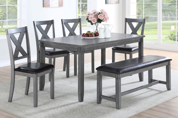 6 Pcs Dining Set F2548 Grey